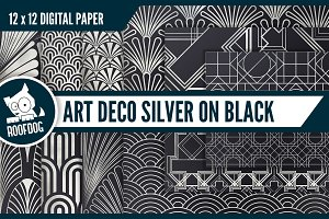 Art deco—Silver on black