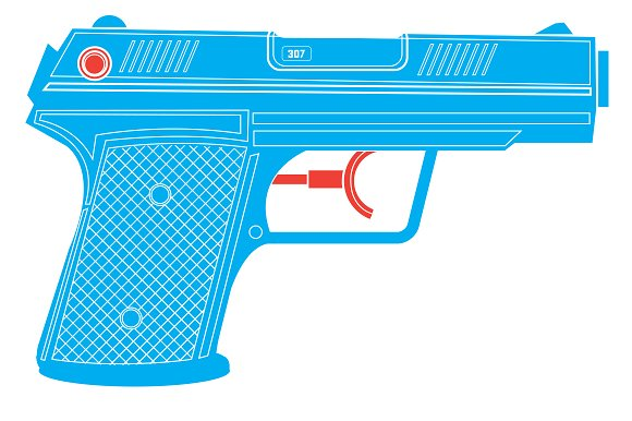 Water Gun / Water Pistol in Illustrations - product preview 2