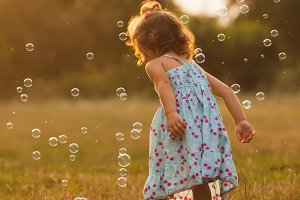 Girl and bubbles