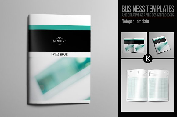 Notepad template templates creative market notepad template templates maxwellsz