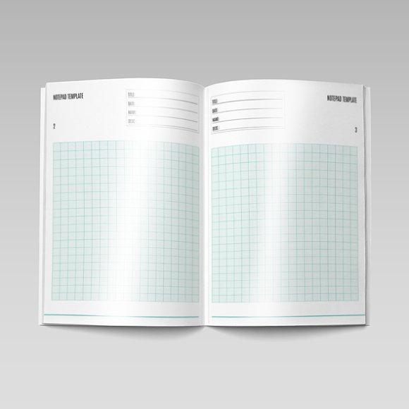 notepad template templates creative market