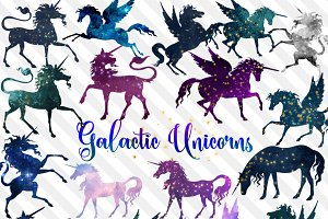 Galactic Unicorns Clipart