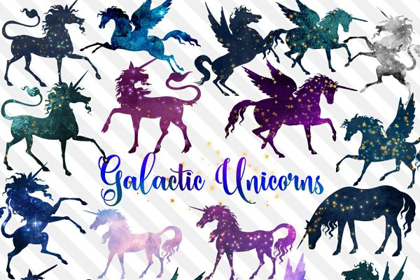 Galactic Unicorns Clipart