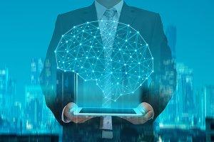 businessman and brain
