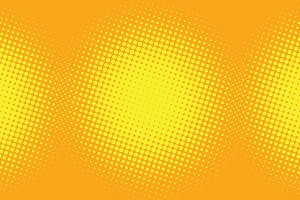 yellow pop art background