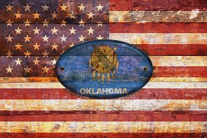 USA and Oklahoma flags.