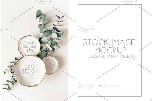 Plates Of Round Shapes Mockup