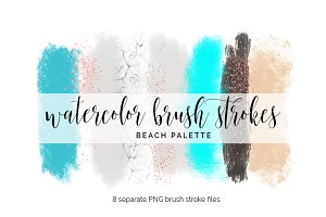 Brush Strokes Clipart - beach
