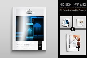 A4 Portrait Business Plan Template