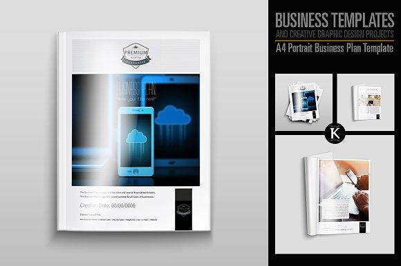A4 Portrait Business Plan Template Templates Creative Market