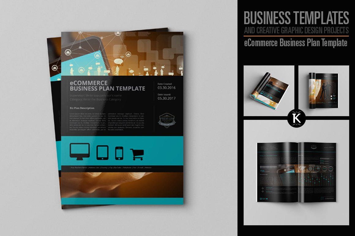 Ecommerce business plan template templates creative market accmission Images