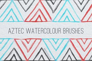 53 Aztec Watercolor Brushes