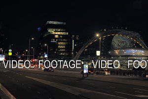 City view of night Rotterdam, Netherlands