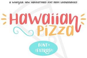 Hawaiian Pizza Font + Extras