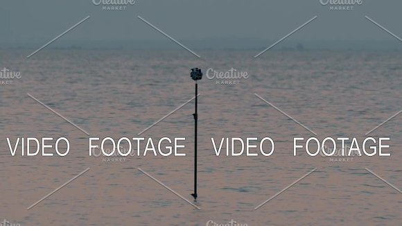Tripod with cameras shooting 360 degree sea scene in Graphics