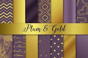 Plum and Gold Christmas / Wedding