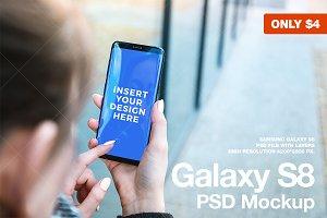 Galaxy S8 PSD Mockup