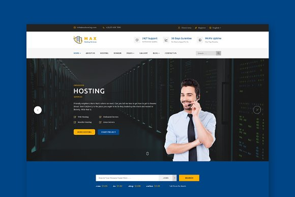 Max Host Hosting HTML Template