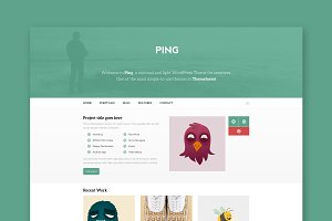Ping - Minimal HTML Template