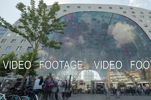 Timelapse of people traffic at Market Hall, Rotterdam
