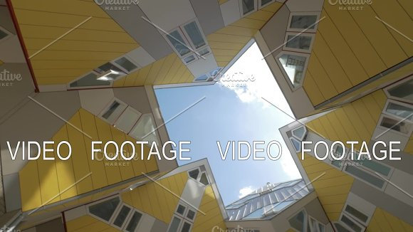 Cube Houses in Rotterdam, view from beneath