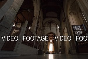 Timelapse of people in St. Lawrence Church, Rotterdam