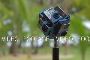 Shooting 360 degrees video of nature using six GoPro cameras