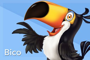 Happy Tucan Bird Graphic
