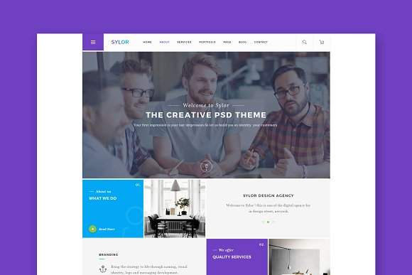 Sylor Minimal WordPress Theme