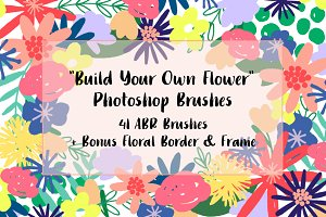 Digital Floral Photoshop Brushes
