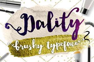 Dality Font, Modern Brush Script