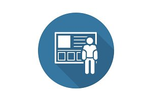 Consulting Service Icon. Business Concept.