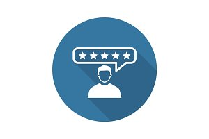 Customer Reviews Icon. Flat Design.