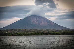 volcano view from Ometepe, Nicaragua