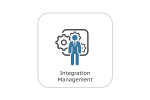 Integration Management Icon. Flat Design.