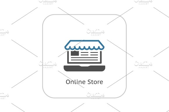 Online Store Icon. Business Concept.