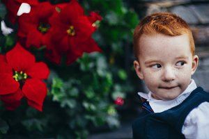 Red-hair little boy