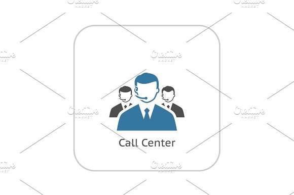 Call Center Icon. Flat Design. in Illustrations