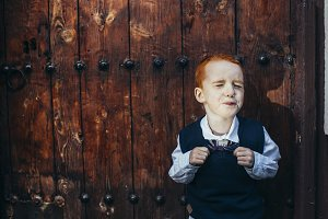 Red-hair little boy