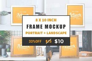 Portrait+Landscape Frame Mockup