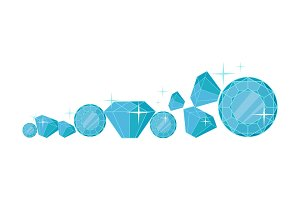 Diamonds Vector Illustration In Flat Design