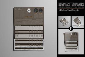 A3 Balance Sheet Template