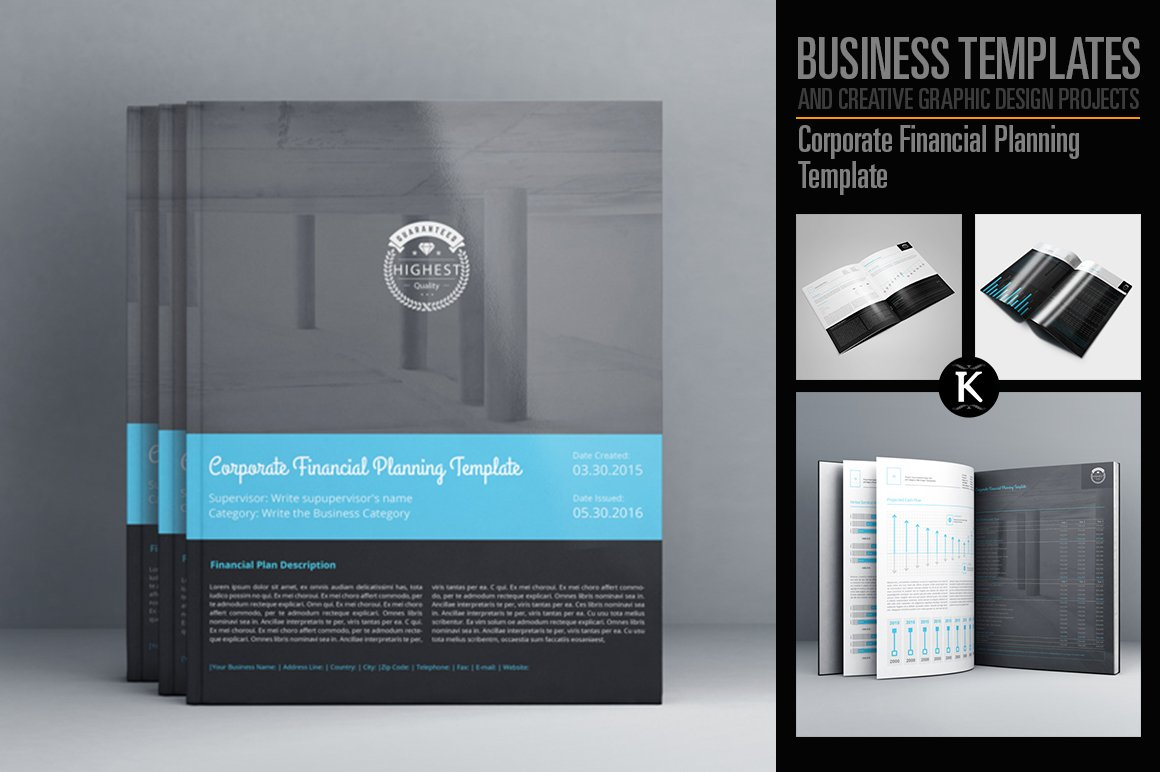 Corporate Financial Planning Templates Creative Market – Financial Plan Template