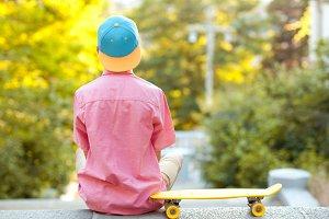 Skater boy outdoors