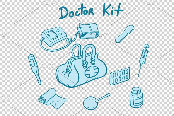 Doctor Kit Medical Instruments And Medicines