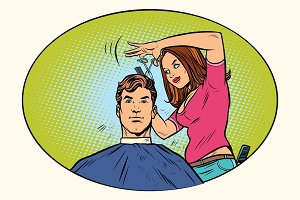 Mens haircut female hairdresser