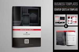 Startup Costs A4 Template