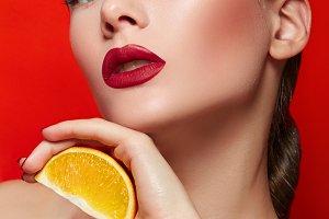 Girl. Red. Orange.#1