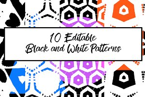 10 Bold and Editable, Black and Whit