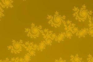 Golden yellow fractal background